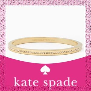"Kate Spade ♠️ ""Ring It Up"" Pave Gold Bracelet NWT"